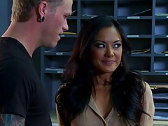 Smoking hot Asian wife, Kaylani Lei is cheating on her husband with a handsome stud
