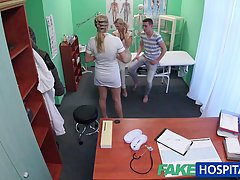 Horny nurse used an opportunity to get fucked and enjoyed it more than she expected