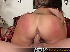 Vannah Sterling is sucking her lover's dick while he is trying to make a video of her