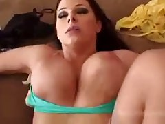 Busty housewife is about to have sex with her young neighbor, who is in love with her