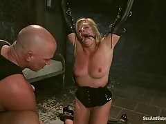 Ginger Lynn is being tied up and gagged, because she wanted to experience something completely new