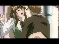 Возбужденный птенец аниме становится пригвожденным сзади парнем, которого она просто встретила в баре