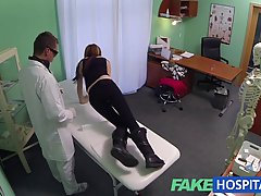 Petite emo babe is often visiting her doctor and having sex with him in his office