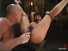 Ava Devine and her lover went to the basement to have a very rough sex adventure