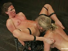Naughty babes were being tortured in the basement, because they have deserved every second of it