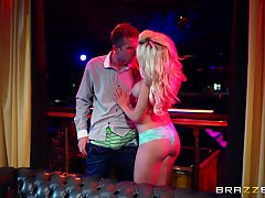 Sienna Day opens her dirty mouth wide and tries to swallow her new lover's huge dick