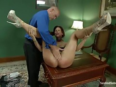 Red haired woman, Syren De Mer was being very naughty and deserved to be punished