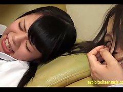 Slutty Asian schoolgirl Yazawa Miya gets rammed on the couch by her freaky man