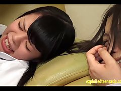 Slutty Asian schoolgirl Yazawa Miya gets rammed on the couch by her freaky man