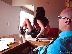Two marvelous babes Ariana Marie and Zoe Clark are eager for a threesome sex session at home