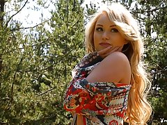 Playboy darling Elyse Jean is here to rock your world, this petite blonde gal shows off her body