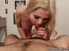 Blonde lady is in the mood for a good fuck as soon as it is possible