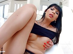 Kitty Lovedream is getting filled up with a rock hard dick, the way she likes it