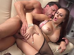 Curvy milf, Tori Avano likes to feel something huge deep inside her wet, hairy pussy