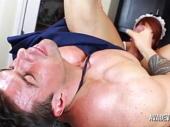 Big titted woman dressed up as maid, Ava Devine is getting her daily dose of fuck