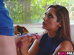 Astonishing woman, Reena Sky is making love with a younger guy she likes a lot