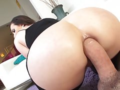 Casey Calvert is sucking a rock hard cock like a pro whore, just because she likes it