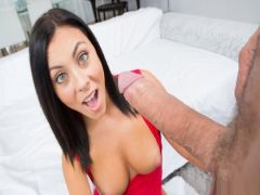 The young brunette after college fucks with the friend and not once finishes