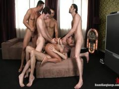 Local guys fuck in all holes the brunette in a genre генгбенг