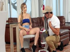 I didn't sell to the girlfriend the vacuum cleaner, but I fucked her …