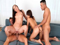 Guys suited a wild orgy with two insatiable students