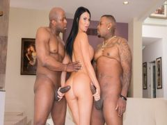 Group sex with Blacks of the high woman with the tightened boobs