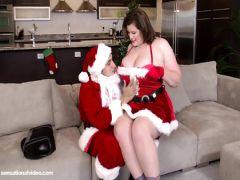 Санта-Клаус дрючит толстую Лизу более полутора часов