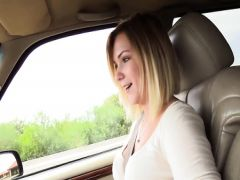 The nice devulka has sex on a casting and in the car