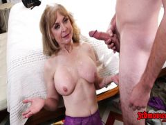 The elderly whore Nina is flogged with the nice student