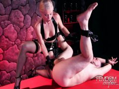 The girlfriend of the guy masses to him a prostate by means of a strap-on