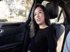 As the real man fucked the student at studio and in the car