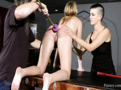 The long-haired guest derives pleasure from humiliation a married couple