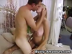 Big titted blonde woman, Mary Foxx is sucking a huge dick because she wants to get fucked