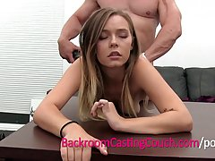 Blonde babe dediced to quit her job and start making porn videos, for a lot of money