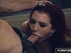 Handsome guy likes to fuck Amber Ivy, because she always makes him explode from pleasure