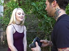 Adorable, small titted blonde, Lily Rader is getting her pussy stuffed with a rock hard dick