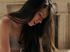 Adorable brunette is getting banged early in the morning and enjoying more than she expected