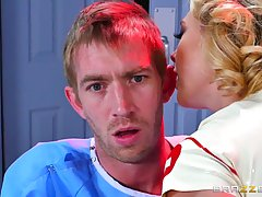 Gorgeous blonde nurse, Kagney Linn Karter is the most popular woman in the whole hospital