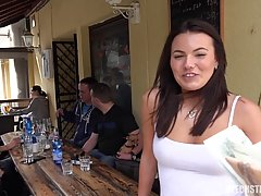 Sweet, Czech brunette with a beautiful smile is eager to fuck many handsome guys she meets