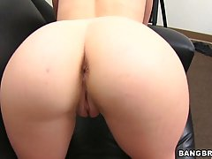 Dirty minded brunette didn't go to classes, because she was very busy making a porn video