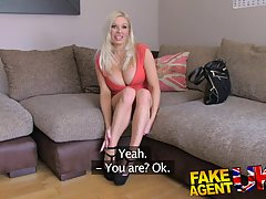 Hot blonde wants to be a pornstar, so she has to show her basic skills