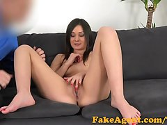 Black haired babe went to a porn audition and did her best to get hired
