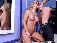 Hot, blonde milf, Parker Swayze is having casual sex with her daughter's boyfriend, just for fun