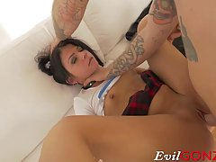 Pigtailed schoolgirl, Sadie Pop likes to get fucked way more than going to some boring classes