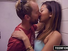 Asian prostitute, Alina Li got hired to satisfy a shy tourist who wanted to cum on her face
