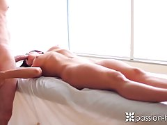 Rahyndee James likes to spread her legs wide open for her lover and let him fuck her