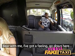 Hot blonde who was driving a taxi fucked her client, instead of taking his money